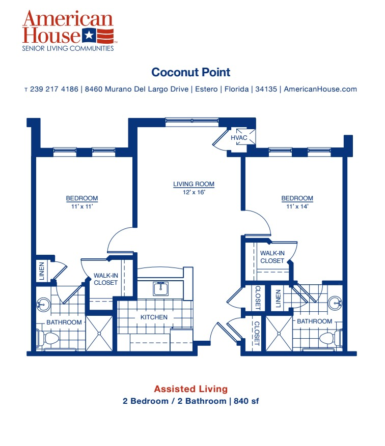 American House Senior Living Coconut Point – Eventide